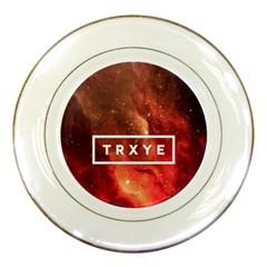 Trxye Galaxy Nebula Porcelain Plates