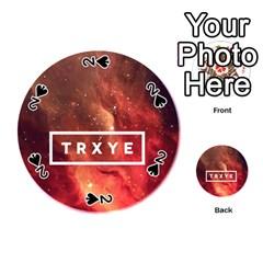 Trxye Galaxy Nebula Playing Cards 54 (Round)
