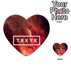 Trxye Galaxy Nebula Multi-purpose Cards (Heart)