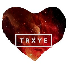 Trxye Galaxy Nebula Large 19  Premium Heart Shape Cushions