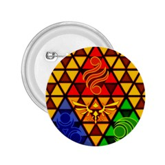 The Triforce Stained Glass 2 25  Buttons