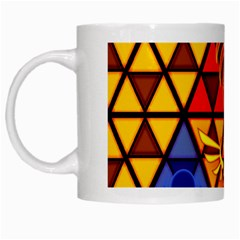 The Triforce Stained Glass White Mugs