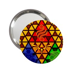 The Triforce Stained Glass 2 25  Handbag Mirrors