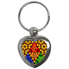 The Triforce Stained Glass Key Chains (heart)