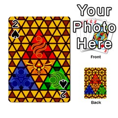 The Triforce Stained Glass Playing Cards 54 Designs