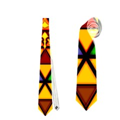 The Triforce Stained Glass Neckties (Two Side)
