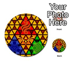 The Triforce Stained Glass Multi Purpose Cards (round)