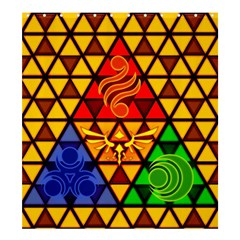 The Triforce Stained Glass Shower Curtain 66  X 72  (large)