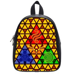 The Triforce Stained Glass School Bags (small)