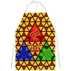 The Triforce Stained Glass Full Print Aprons
