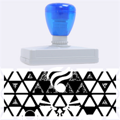 The Triforce Stained Glass Rubber Address Stamps (xl)