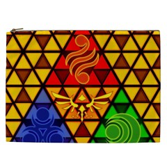 The Triforce Stained Glass Cosmetic Bag (xxl)