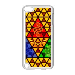 The Triforce Stained Glass Apple Ipod Touch 5 Case (white)