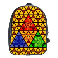 The Triforce Stained Glass School Bags (xl)