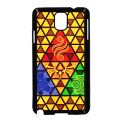 The Triforce Stained Glass Samsung Galaxy Note 3 Neo Hardshell Case (black)