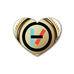 Twenty One Pilots Shield Rubber Coaster (heart)