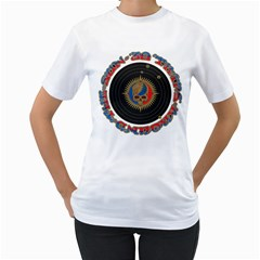 The Grateful Dead Women s T Shirt (white) (two Sided)