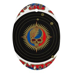 The Grateful Dead Oval Ornament (two Sides)