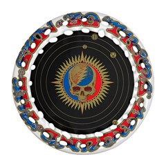 The Grateful Dead Round Filigree Ornament (2side)