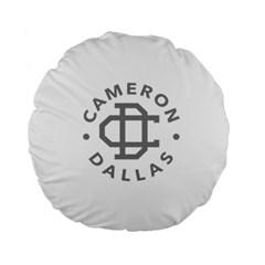 Cameron Dallas Standard 15  Premium Flano Round Cushions
