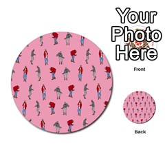 Hotline Bling Pattern Multi Purpose Cards (round)