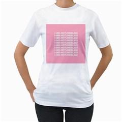 1 800 Hotline Bling Women s T Shirt (white) (two Sided)