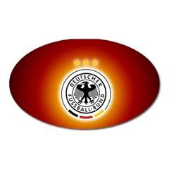 Deutschland Logos Football Not Soccer Germany National Team Nationalmannschaft Oval Magnet