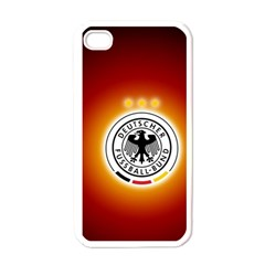 Deutschland Logos Football Not Soccer Germany National Team Nationalmannschaft Apple Iphone 4 Case (white)