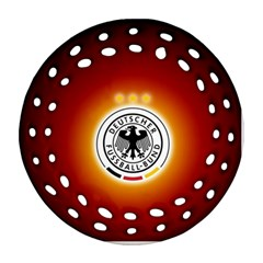Deutschland Logos Football Not Soccer Germany National Team Nationalmannschaft Round Filigree Ornament (2side)
