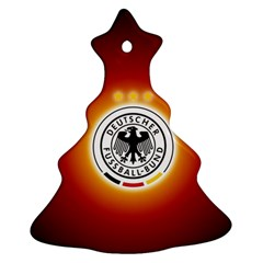 Deutschland Logos Football Not Soccer Germany National Team Nationalmannschaft Christmas Tree Ornament (2 Sides)
