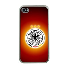 Deutschland Logos Football Not Soccer Germany National Team Nationalmannschaft Apple Iphone 4 Case (clear)