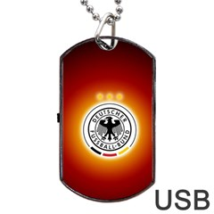 Deutschland Logos Football Not Soccer Germany National Team Nationalmannschaft Dog Tag Usb Flash (two Sides)