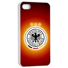 Deutschland Logos Football Not Soccer Germany National Team Nationalmannschaft Apple Iphone 4/4s Seamless Case (white)