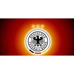 Deutschland Logos Football Not Soccer Germany National Team Nationalmannschaft You Are Invited 3d Greeting Card (8x4)