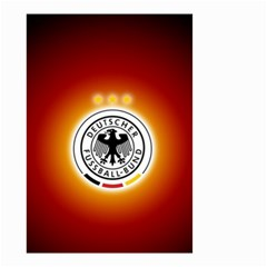 Deutschland Logos Football Not Soccer Germany National Team Nationalmannschaft Small Garden Flag (two Sides)