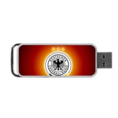 Deutschland Logos Football Not Soccer Germany National Team Nationalmannschaft Portable Usb Flash (two Sides)