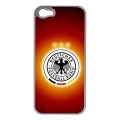 Deutschland Logos Football Not Soccer Germany National Team Nationalmannschaft Apple Iphone 5 Case (silver)