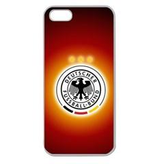 Deutschland Logos Football Not Soccer Germany National Team Nationalmannschaft Apple Seamless Iphone 5 Case (clear)