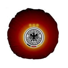 Deutschland Logos Football Not Soccer Germany National Team Nationalmannschaft Standard 15  Premium Round Cushions