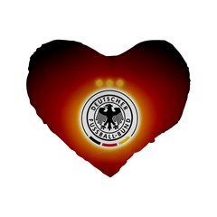 Deutschland Logos Football Not Soccer Germany National Team Nationalmannschaft Standard 16  Premium Heart Shape Cushions