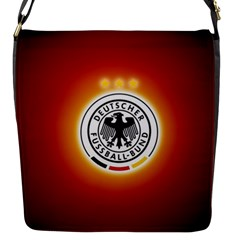 Deutschland Logos Football Not Soccer Germany National Team Nationalmannschaft Flap Messenger Bag (s)