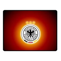 Deutschland Logos Football Not Soccer Germany National Team Nationalmannschaft Double Sided Fleece Blanket (small)