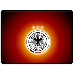 Deutschland Logos Football Not Soccer Germany National Team Nationalmannschaft Double Sided Fleece Blanket (large)