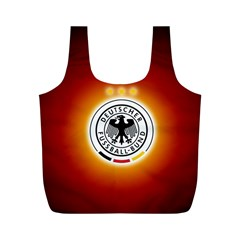 Deutschland Logos Football Not Soccer Germany National Team Nationalmannschaft Full Print Recycle Bags (m)