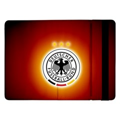 Deutschland Logos Football Not Soccer Germany National Team Nationalmannschaft Samsung Galaxy Tab Pro 12 2  Flip Case