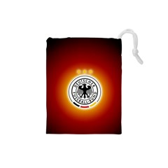 Deutschland Logos Football Not Soccer Germany National Team Nationalmannschaft Drawstring Pouches (small)