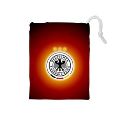 Deutschland Logos Football Not Soccer Germany National Team Nationalmannschaft Drawstring Pouches (medium)