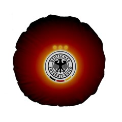 Deutschland Logos Football Not Soccer Germany National Team Nationalmannschaft Standard 15  Premium Flano Round Cushions