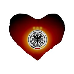 Deutschland Logos Football Not Soccer Germany National Team Nationalmannschaft Standard 16  Premium Flano Heart Shape Cushions