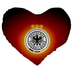 Deutschland Logos Football Not Soccer Germany National Team Nationalmannschaft Large 19  Premium Flano Heart Shape Cushions